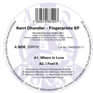 Madhouse - MAD0530-17 - Kerri Chandler - Fingerprintz EP - A - CMYK